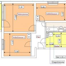 2 Raumwohnung - Am Quellenberg A 3b